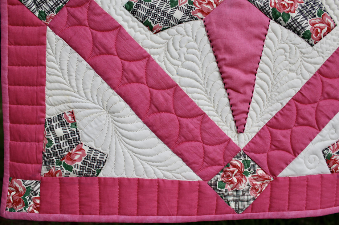 Photo of vintage custom quilting by Foxtail Quilting
