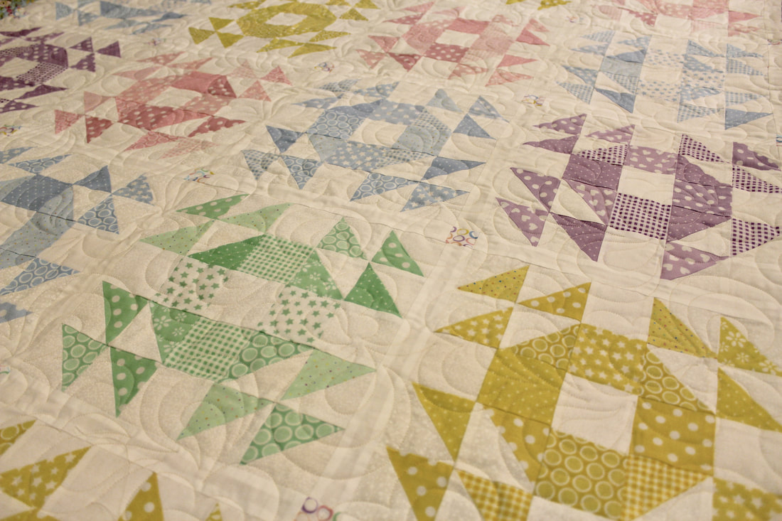 Picture of quilt with Oblique Pantograph